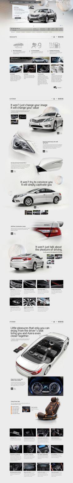 #webdesign  배경에 그라데이션 처리로 자동차의 특징을 보여준 것