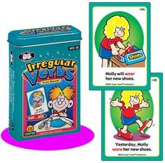 "Irregular Verbs Fun Deck Cards - Super Duper Educational Learning Toy for Kids by Super Duper Publications. $12.95. 56 Colorful, Illustrated Cards (2 1/2"" x 3 1/2""). Fun, Easy Way to Become Familiar with the Present & Future Tense of Irregular Past Tense Verbs. Educational - Helps Children Learn & Understand the Correct Way to Use Irregular Verbs. Irregular Verbs Fun Deck App Available on the Amazon Appstore for Android. Availabe with our Regular Past Tense Verbs ..."