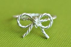 TINY BOW rope ring by muyinmolly