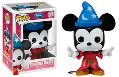 Vinyl Figure at Mighty Ape NZ. Keep your work desk lively with this Fantasia Sorcerer Mickey Mouse Pop! From the classic animated Disney movie Fantasia, this 3 Disney Mickey Mouse, Pop Disney, Disney Stuff, Walt Disney, Pop Bobble Heads, Funko Pop Dolls, All Pop, Pop Figurine, Goodies