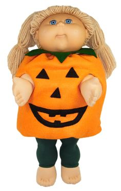 WOW, this is the most unique Halloween Cabbage Patch doll clothes pattern you'll ever see!  Pattern includes pdf pattern for tights and pumpkin costume plus FREE video tutorials with Rosie showing you how to make the outfit.  Now your doll can join in the Halloween celebrations too!