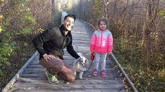 Myla, Dad and Micha walking in our neighborhood!