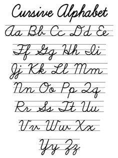 Cursive Letters - Dr. Odd | Remember this? | Cursive ...