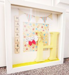 Beautiful New Baby frame made today 💟💟 Made this for a lovely lady to gift to her friend to celebrate the arrival of her baby daughter, Harriet Baby Frame, New Baby Products, Daughter, Kids Rugs, Holiday Decor, Celebrities, Lady, Gifts, Beautiful