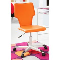 Contemporary White Plastic Swivel Chair With Caster Wheels With  for Kids Desk Chairs Without Wheels