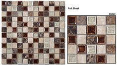 Mosaic prices are quoted per sheet. Color: Coffee & Cream/ Bluegreen Wash/ Olive Grove/ Slate Patio/ Bamboo Deck/ Methodical Grey/ Honeycomb/ Methodical Sand/ Chocolate Blend/ Rocky Beach/ Grecian Sag