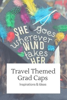 Are you going to study aboard, work abroad or even just travel around the world after graduation? Inspiration to make travel-themed graduation cap. Travel Guides, Travel Tips, Grad Cap, Graduation Caps, Travel Crafts, Graduation Cap Decoration, Cap Decorations, Worldwide Travel, Travel Articles