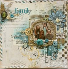 Mixed Media Scrapbook page by Gabrielle Pollacco made with Bo Bunny 'Woodland Winter Collection' Heritage Scrapbooking, Mixed Media Scrapbooking, Altered Canvas, Scrapbook Page Layouts, Scrapbook Cards, Couple Scrapbook, Scrapbook Examples, Mix Media, Collage