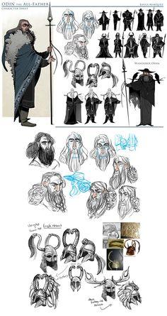 College Work: Odin by the-Orator.deviantart.com on @DeviantArt