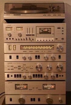 Philips US Laboratories series: MK II Stereo Turntable, Tapedeck, Tuner, Pre Amplifier, Power Amplifier Stereo Turntable, Hifi Speakers, Hifi Audio, Stereo Amplifier, Som Retro, Super Sons, Mini System, Audio Rack, Retro Radios