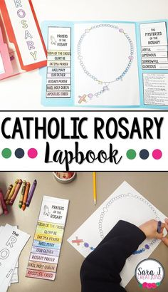 This lapbook is an awesome tool to teach Catholic kids how to pray the Rosary. This lapbook is an awesome tool to teach Catholic kids how to pray the Rosary. Ccd Activities, Religion Activities, Teaching Religion, Religion Catolica, Catholic Religion, Catholic Saints, Catholic Prayers, Catholic Religious Education, Catholic Crafts