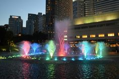 Light and fountain show at KLCC park every evening is one of the most beautiful scene of KL.