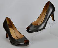 Cole Haan 7.5 M Women's B Gray Leather Heels #ColeHaan #PumpsClassics #Casual