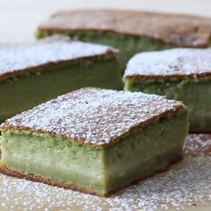 Magic Cake You'll be enchanted by this matcha dessert's wonderfully yummy texture and flavor.You'll be enchanted by this matcha dessert's wonderfully yummy texture and flavor. Matcha Dessert, Matcha Cake, Green Tea Dessert, Matcha Cookies, Food Cakes, Cupcake Cakes, Cupcakes, Magic Cake Recipes, Dessert Recipes