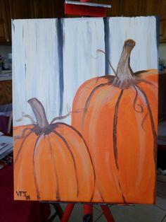 Pumpkin Canvas Painting, Fall Crafts, Pumpkins, Paintings, Autumn Crafts, Paint, Painting Art, Pumpkin, Squash