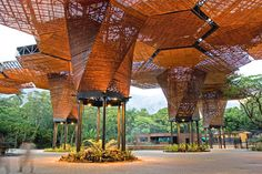 Orchideorama, Orquideorama, Medellin, Columbia, Plan B Architects, JPRCR Architects, modular structure, hexagonal structure, flexible struct...