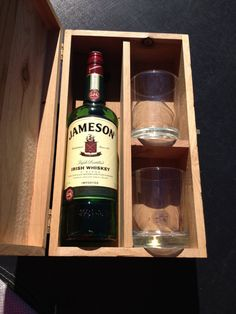 Fun gift to bring to a party. Handmade in the USA Whiskey Gift Box. Wooden Gift Boxes, Wooden Gifts, Woodworking Jigs, Woodworking Projects, Whiskey Gift Set, Client Gifts, Recycled Wood, Wine Gifts, Corporate Gifts