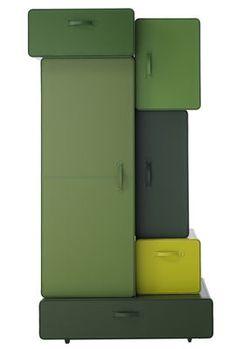Valises Schrank in grün