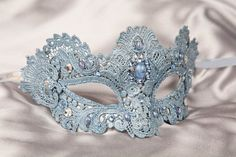 Masquerade bachelorette party or bridal shower? Ice Blue Mask