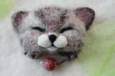Brooch  CUTE CAT by UkrainianHouseofArt on Etsy