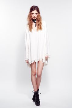 The For Love & Lemons Angelic Dress in Ivory comes from the brand's 'Interview with the Vampire' Fall 2013 collection. This piece features a scoop neck with Venetian lace trim. *THIS IS A PRE-ORDER* Funky Dresses, Funky Outfits, Free People Clothing, Clothes For Women, For Love And Lemons, Fashion Boutique, White Dress, Stylish, Womens Fashion
