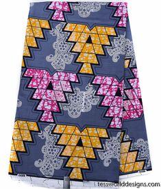 African Fabrics, grey 6 yards, WP1089 | Tess World Designs | African Clothing Materials
