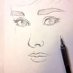 Audrey Hepburn. Sketch