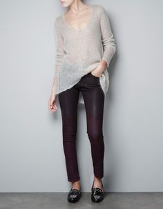 SWEATER WITH OPEN-WORK AT THE SIDES - Knitwear - Woman - ZARA United Kingdom