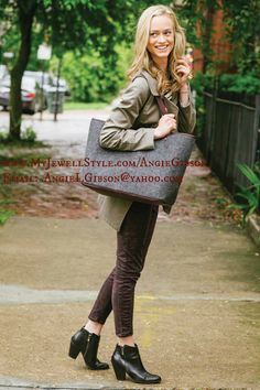I use my Trendsetter as my overnight bag, but perfect for everyday use as well!  MyJewellStyle.com/AngieGibson