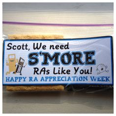 RA Appreciation S'mores @jennifer attenweiler