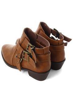 4fb8acd7fcd9 Cutout Buckled Boots Fab Shoes