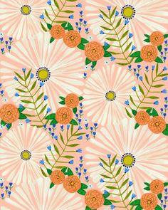 Pattern — Tara Lilly Art and Illustration Design Textile, Design Floral, Motif Floral, Art Design, Textile Patterns, Print Patterns, Floral Prints, Lino Prints, Floral Patterns