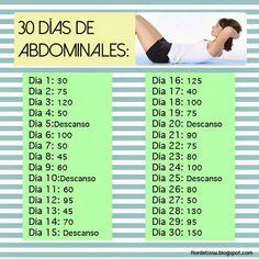 Flor de Tissu: Reto: 30 días de abdominales
