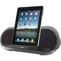 Ihome Ipad And Iphone And Ipod Speaker System Compatible With Iphone and ipod * Bongiovi Digital Power Station Processing Allows The Ip3 To Provide Startlingly Impressive Sound In A Compact Package * 50w Class D Amplifier Architecture With Bongiovi Sound Processing Through Two 3.5 Coaxial Neodymium Speakers * Clean, Minimalist Design Featuring Museum-quality Smoked Acrylic For Stunning Appearance... #Quotech #Wireless