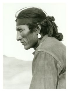 beautiful profile of a Native American man