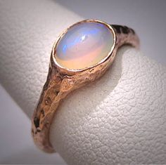 Vintage Australian Opal Ring 14K Gold Wedding by AawsombleiJewelry, $895.00