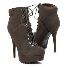 Women High Heel Shoe Ankle Boots Booties Platform Stiletto Pump 2012 New Fashion