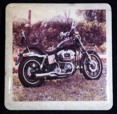 Coaster 1978 AMF Harley FXE Superglide by TheCoasterMan on Etsy, $8.00