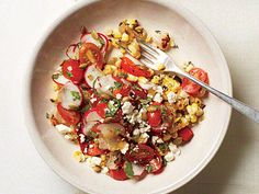 Mexican Broiled Corn Salad | The broiler offers a fantastic way to give food the taste of fire, yet it's perhaps the most overlooked way of cooking. Here it brings alive the flavors of late-fall corn and peppers so they taste as good as at summer's peak. To help control the intense heat of a broiler, move foods closer to or farther away from the element--not just up or down the oven racks but also toward or away from the sides.