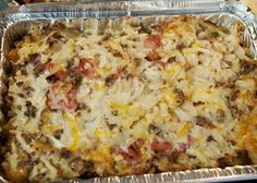 Cheesy Sausage & Hashbrown Casserole (Eggless Breakfast Casserole) - Midwest Girl Cooks
