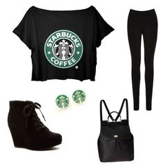 """""""The look for only when u go 2 Starbucks not DD"""" by hymowitzsara on Polyvore"""