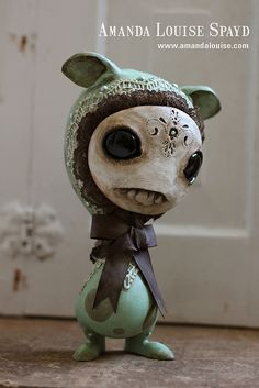 """Customized Skelve by Amanda Louise Spayd for """"Monsters and Misfits II"""", in conjunction with Tomenosuke, at Kusakabe Folk Art Museum, Takayama, Japan. April 2012."""