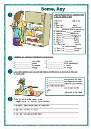 English Exercises: Some/Any/A/An