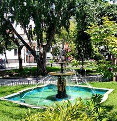 Fuente Plaza Bolívar de Caracas se encuentra ubicada en el centro histórico de esa ciudad en la Parroquia Catedral del Mun Libertador, en la manzana central de las 25 con las que fue creada Santiago de León de Caracas en 1567. , Venezuela