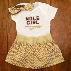 40e226005 Custom Baby College Onesies, FSU Baby, Newborn Onesie, FSU Baby Outfit, Florida  State Seminoles, Noles Baby, Baby Shower Gift