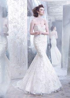 Những mẫu váy cưới đuôi cá đẹp nhất cô dâu nào nhìn cũng mê