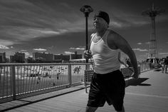 Ron Gessel: Black and White Street #Photography in #ConeyIsland. #newyork