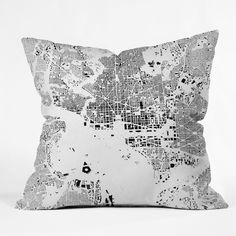 CityFabric Inc DC White Throw Pillow | DENY Designs Home Accessories