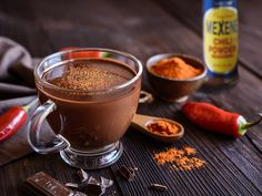 Snuggle up with a spicy hot chocolate, made to perfection with Mexene Chili Powder! Mexican Hot Chocolate, Hot Chocolate Mix, Hot Chocolate Recipes, Chocolate Syrup, Chocolates, Spiced Cider, Hot Cocoa Mixes, Coffee Creamer, Food Categories