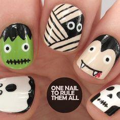 Instagram media onenailtorulethemall - Halloween #nail #nails #nailart